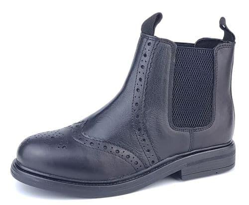 Frank James - Wrexham 3255 Boys Girls Chelsea Boots Black